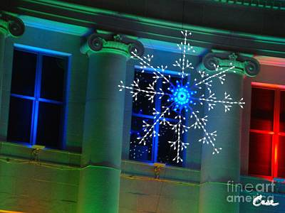 During Christmas Time Photograph - Holiday Lights 2012 Denver City And County Building J1 by Feile Case