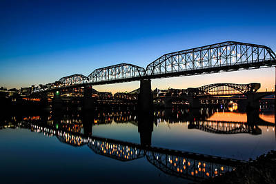 Wall Art - Photograph - Holiday Lights Chattanooga by Tom and Pat Cory