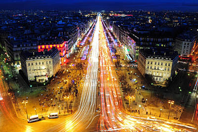 Holiday Lights On The Champs-elysees Art Print