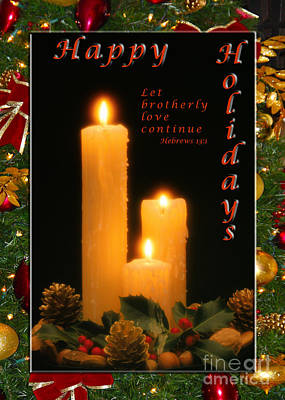 Photograph - Holiday Love Declaration2 by Terry Wallace