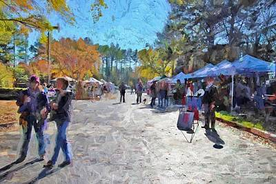 Photograph - Holiday Market by Ludwig Keck