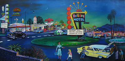 Hamburger Painting - Holiday Motel by Matthew Pinkey