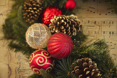Pine Cone Photograph - Holiday Music by Rebecca Cozart