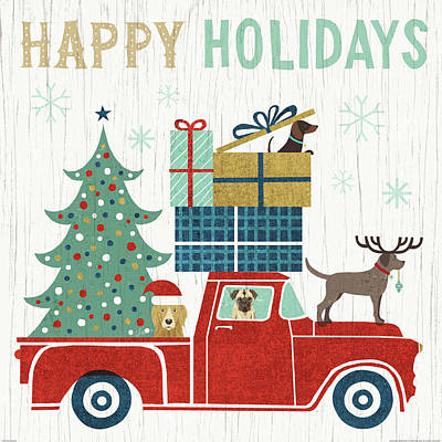 Happy Holidays Painting - Holiday On Wheels IIi by Michael Mullan