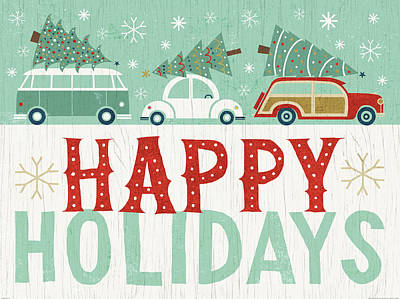 Happy Holidays Painting - Holiday On Wheels Ix by Michael Mullan