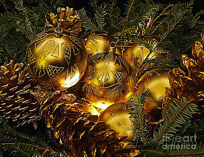 Photograph - Holiday Ornaments by Nick Zelinsky