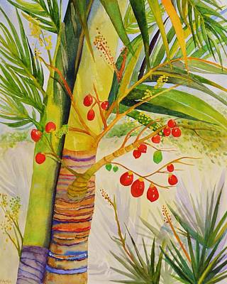 Painting - Holiday Palm by Jane Ricker
