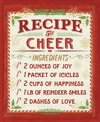 Holiday Recipe I Art Print