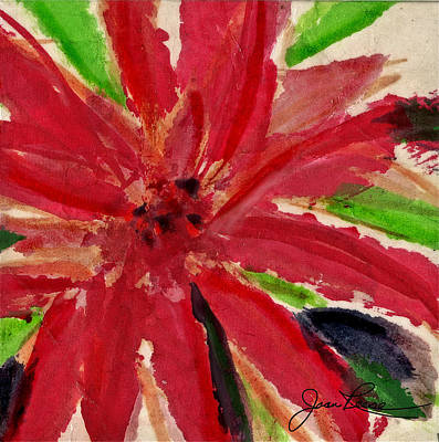 Painting - Holiday Red Flower by Joan Reese