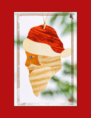 Photograph - Holiday Santa Claus Art Ornament In Red by Jo Ann Tomaselli
