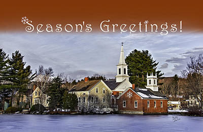 Holiday Seasons Greetings Card Original by Betty Denise