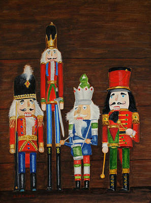 Painting - Holiday Sentinels by Jill Ciccone Pike