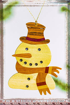 Photograph - Snowman Holiday Image Art by Jo Ann Tomaselli