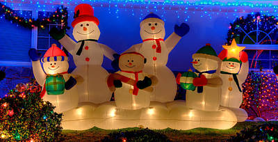 Photograph - Holiday Snowmen 2 by Richard J Cassato