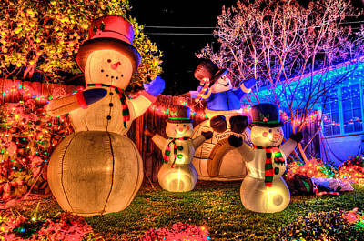 Photograph - Holiday Snowmen by Richard J Cassato