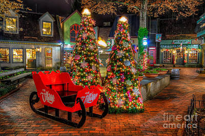 Cristmas In The Smokies Art Print by Anthony Heflin