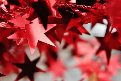 Photograph - Holiday Stars - Red by Diane Alexander