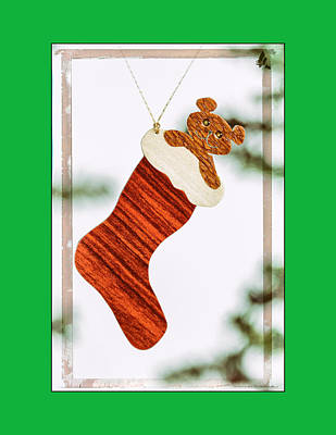 Photograph - Holiday Stocking Art Ornament In Green by Jo Ann Tomaselli
