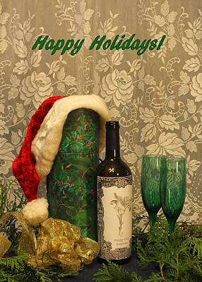 Photograph - Holiday Toast - Happy Holidays by Peggy King