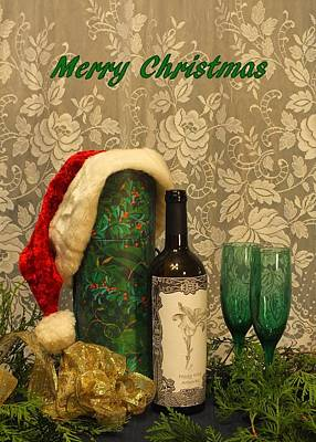 Photograph - Holiday Toast - Merry Christmas by Peggy King