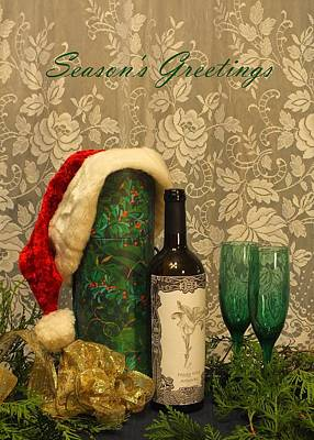 Photograph - Holiday Toast - Season's Greetings by Peggy King