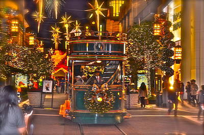 Photograph - Holiday Trolley by Joe  Burns