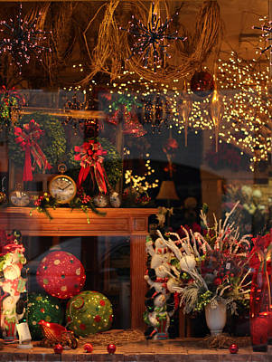 Red Ribbon Digital Art - Holiday Window by Jessica Jenney