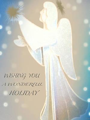 Designs In Nature Mixed Media - Holiday Wish Card by Debra     Vatalaro