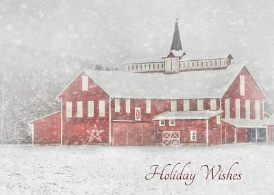 Barn Digital Art - Holiday Wishes by Lori Deiter