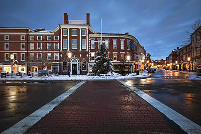 Christmas Holiday Scenery Photograph - Holidays In Portsmouth by Eric Gendron