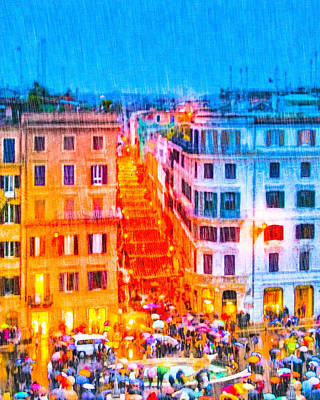 Photograph - Holidays In Rome - Base Of The Spanish Steps by Mark E Tisdale
