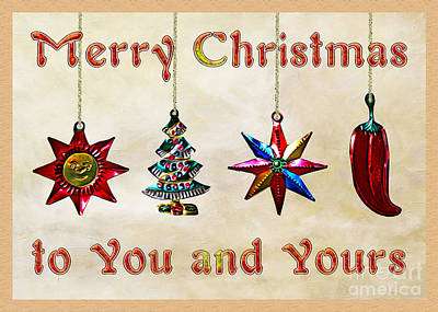 Digital Art - Holidays - Mexican Christmas Ornaments by Gabriele Pomykaj