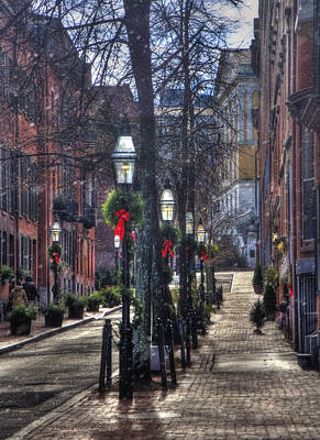 Photograph - Holidays On Beacon Hill - Boston by Joann Vitali