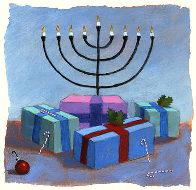 American Jewish Artists Painting - Holidays by Steve Dininno