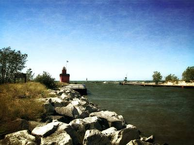 Sandblasted Photograph - Holland Channel And Big Red by Michelle Calkins