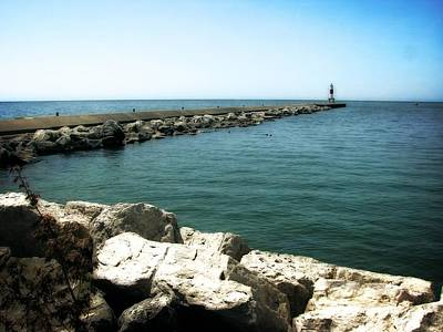 Photograph - Holland Harbor Breakwater 2.0 by Michelle Calkins
