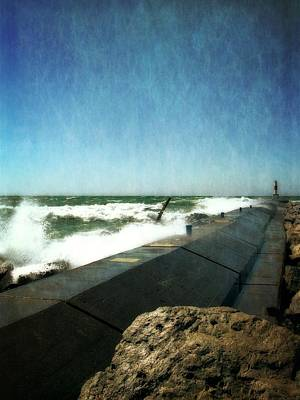 Photograph - Holland Harbor Breakwater by Michelle Calkins