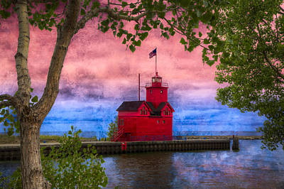 Muskegon Lighthouse Wall Art - Photograph - Holland Michigan Lighthouse by Debra and Dave Vanderlaan