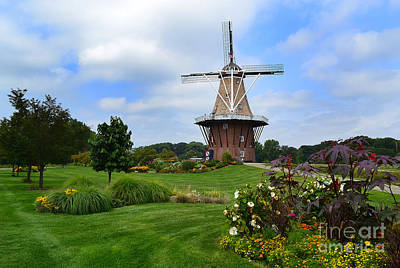 Gardens Photograph - Holland Michigan Windmill Landscape by Amy Lucid