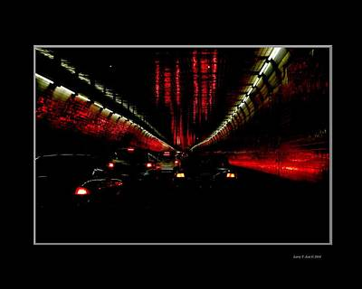 Nyc Photograph - Holland Tunnel Lights by Larry Jost