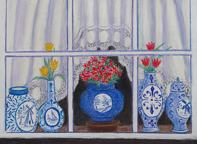 Pastel - Holland Window by Patricia Beebe