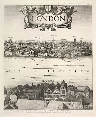 Halls Harbour Photograph - Hollar's Panorama Of London, 1647 by British Library