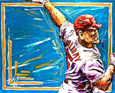 Baseball Card Painting - Holliday by Ian Sikes
