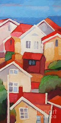 Painting - Holliday Village by Lutz Baar