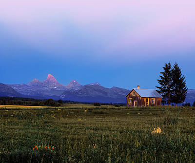 Old Cabins Photograph - Hollingshead Ranch by Leland D Howard