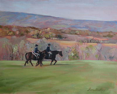 Painting - Hollins Equestrians by Susan Bradbury
