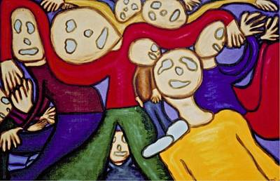 Painting - Hollow Men - The Crowd by Mario Perron