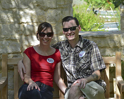 Photograph - Holly And Colin At Lady Bird Johnson Wildflower Center by Allen Sheffield