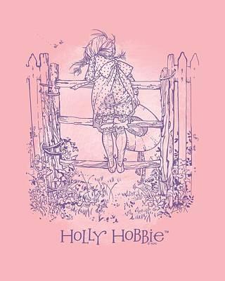 Children Book Digital Art - Holly Hobbie - On The Fence by Brand A