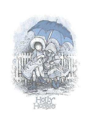 Children Book Digital Art - Holly Hobbie - Rain Drops by Brand A